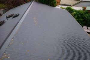 Changing Concrete Roof Tiles to Corrugated Metal Roofing 1
